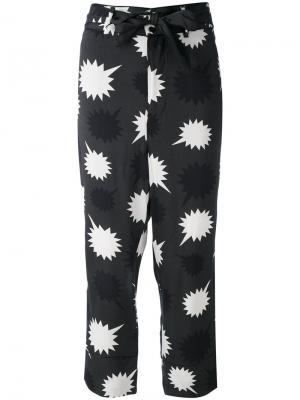 Пижамные брюки с завязкой на бант Diesel. Цвет: зеленый