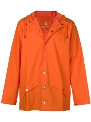 Waterproof hooded coat Rains. Цвет: желтый
