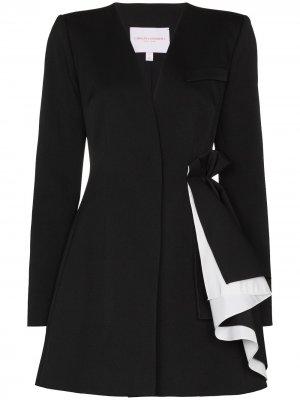 Платье мини с драпировкой Carolina Herrera. Цвет: черный