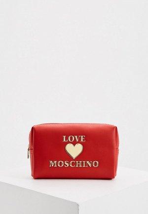 Косметичка Love Moschino. Цвет: красный