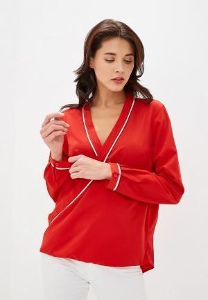 Блуза Sisley. Цвет: красный