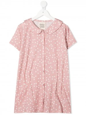 Блузка в горох Douuod Kids. Цвет: розовый