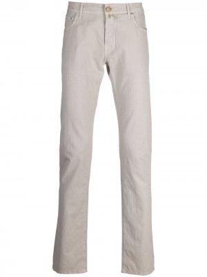 Прямые джинсы средней посадки Jacob Cohen. Цвет: нейтральные цвета
