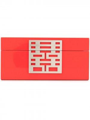 Футляр для украшений Double Happiness Shanghai Tang. Цвет: красный