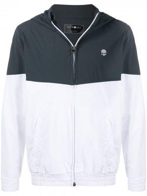 Двухцветная спортивная куртка с капюшоном Hydrogen. Цвет: белый