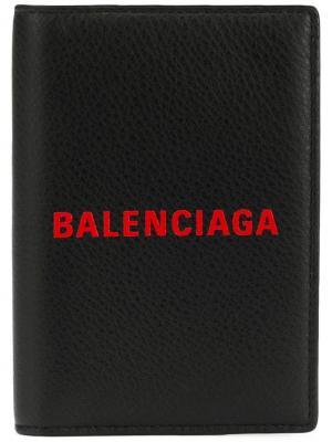 Обложка для паспорта Everyday Balenciaga. Цвет: черный