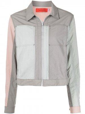 Укороченная куртка Blunt со вставками Eckhaus Latta. Цвет: серый