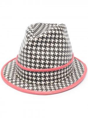 Шляпа-федора pre-owned Christian Dior. Цвет: черный