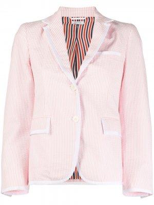 Блейзер с заостренным воротником Thom Browne. Цвет: розовый