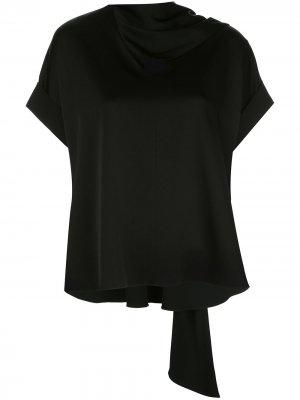 Блузка с короткими рукавами и драпировкой Jason Wu. Цвет: черный