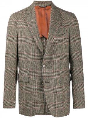 Кашемировый пиджак в клетку Loro Piana. Цвет: нейтральные цвета
