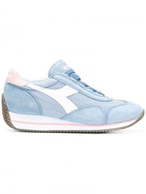Кроссовки на шнуровке Diadora. Цвет: синий