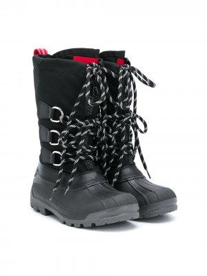 Сапоги со шнуровкой Dsquared2 Kids. Цвет: черный