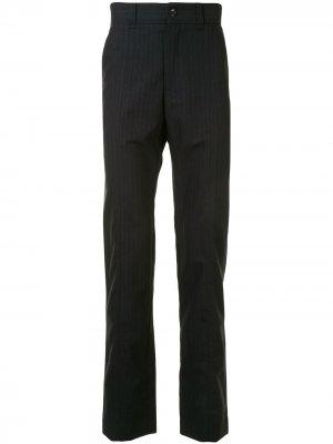 Прямые брюки в полоску Cerruti 1881. Цвет: черный