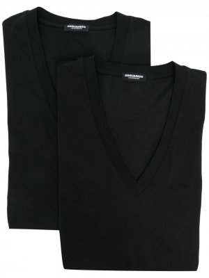 Комплект из двух футболок Dsquared2. Цвет: черный