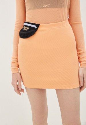 Юбка Reebok Classic. Цвет: оранжевый