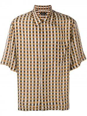 Рубашка в клетку Qasimi. Цвет: оранжевый