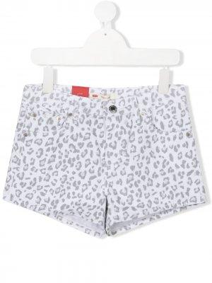 Levis Kids шорты с цветочным принтом Levi's. Цвет: белый