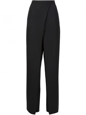 Широкие брюки с запахом Monique Lhuillier. Цвет: чёрный