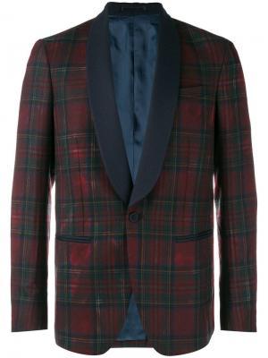 Tartan blazer Mauro Grifoni. Цвет: красный