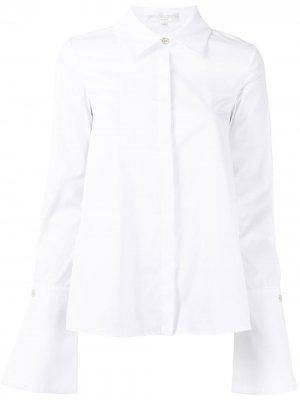 Поплиновая рубашка с широкими манжетами Caroline Constas. Цвет: белый