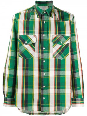 Рубашка Wester Sport Gitman Vintage. Цвет: зеленый