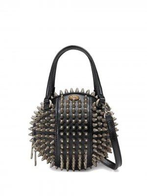 Мини-сумка на плечо в форме баскетбольного мяча Gucci. Цвет: черный