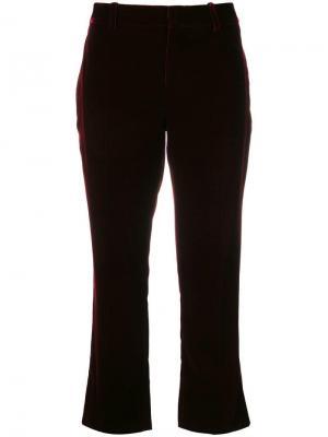 Укороченные брюки Saint Laurent. Цвет: красный