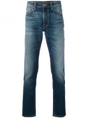 Джинсы кроя слим Nudie Jeans Co. Цвет: синий