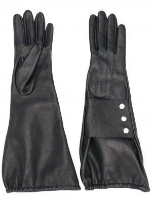 Перчатки на кнопках Manokhi. Цвет: черный