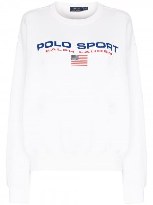 Толстовка с логотипом Polo Ralph Lauren. Цвет: белый