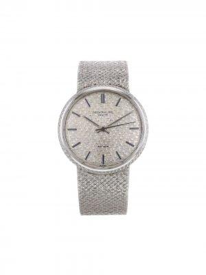 Декорированные наручные часы 34 мм 1972-го года Patek Philippe. Цвет: серебристый