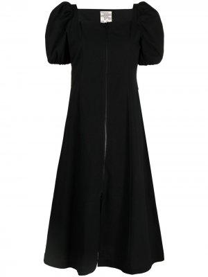 Платье миди с пышными рукавами Baum Und Pferdgarten. Цвет: черный