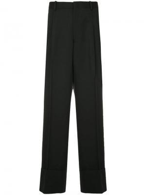 Широкие брюки с высокой талией Wooyoungmi. Цвет: синий
