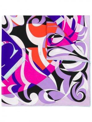 Шарф с принтом логотипа Emilio Pucci. Цвет: фиолетовый