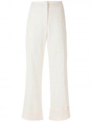 Расклешенные брюки с завышенной талией Alcaçuz. Цвет: белый
