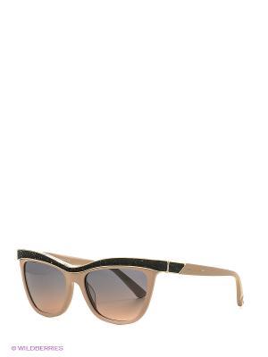 Солнцезащитные очки SK 0075 72В Swarovski. Цвет: бежевый