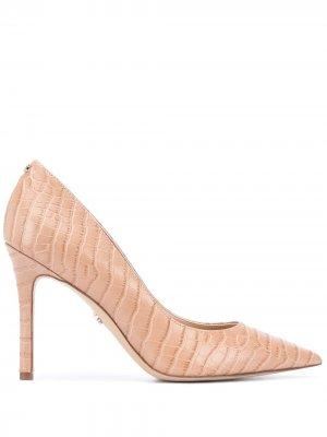 Туфли-лодочки Hazel с крокодиловым принтом Sam Edelman. Цвет: нейтральные цвета