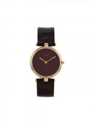 Наручные часы Must de  pre-owned 30 мм 1990-х годов Cartier. Цвет: красный