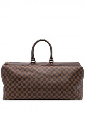 Дорожная сумка Damier Ebene Greenwich GM 2004-го года Louis Vuitton. Цвет: коричневый