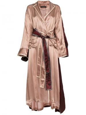Двухслойный халат Y / Project. Цвет: розовый