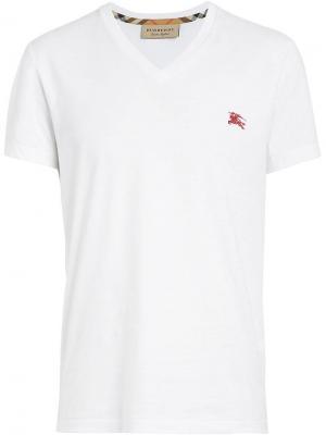 Cotton Jersey V-neck T-shirt Burberry. Цвет: белый