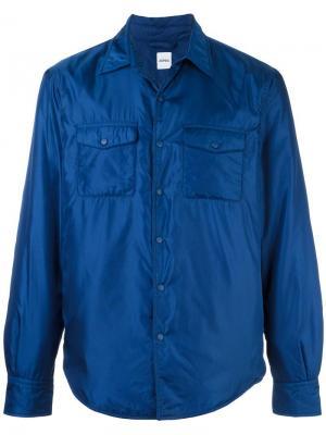 Куртка-рубашка с нагрудными карманами Aspesi. Цвет: синий