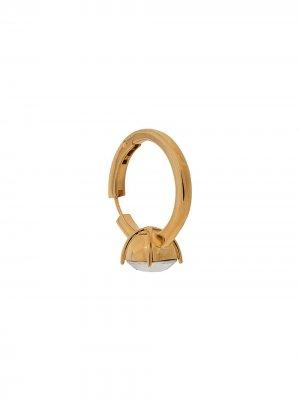 Серьга-кольцо Solitaire AMBUSH. Цвет: золотистый