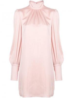 Расклешенное платье с длинными рукавами Milly. Цвет: розовый
