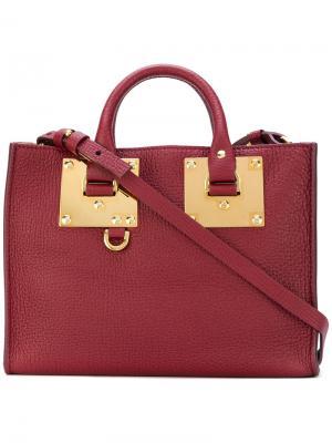 Квадратная сумка на плечо Sophie Hulme. Цвет: розовый