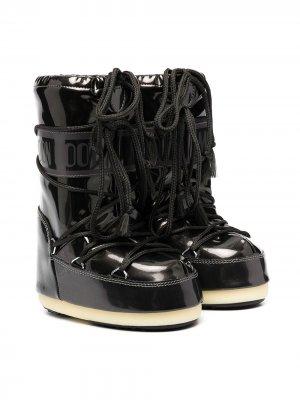 Сапоги луноходы Moon Boot Kids. Цвет: черный