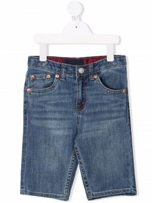 Levis Kids джинсовые шорты с нашивкой-логотипом Levi's. Цвет: синий