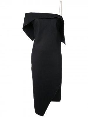 Платье на одно плечо Ports 1961. Цвет: черный