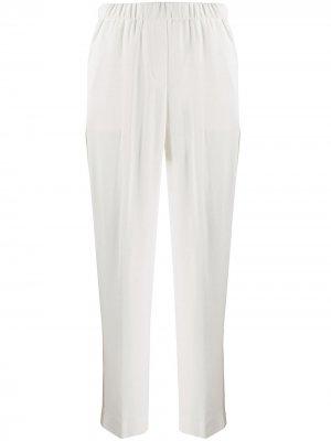 Зауженные брюки с лампасами Peserico. Цвет: белый